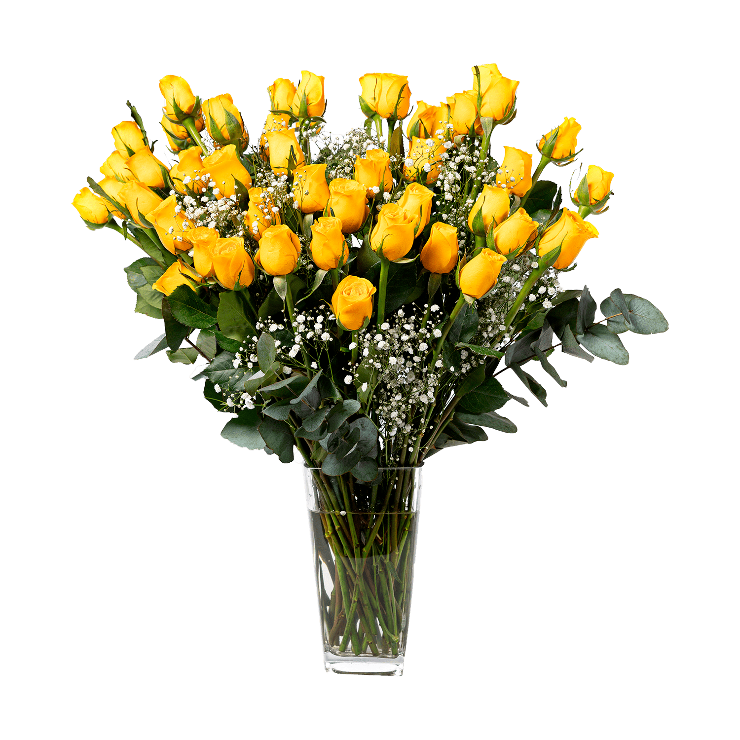 Try to hold our Brighter Days bouquet without smiling, we dare you! The pure yellow is the detail you're looking for when you're trying to make someone's day.