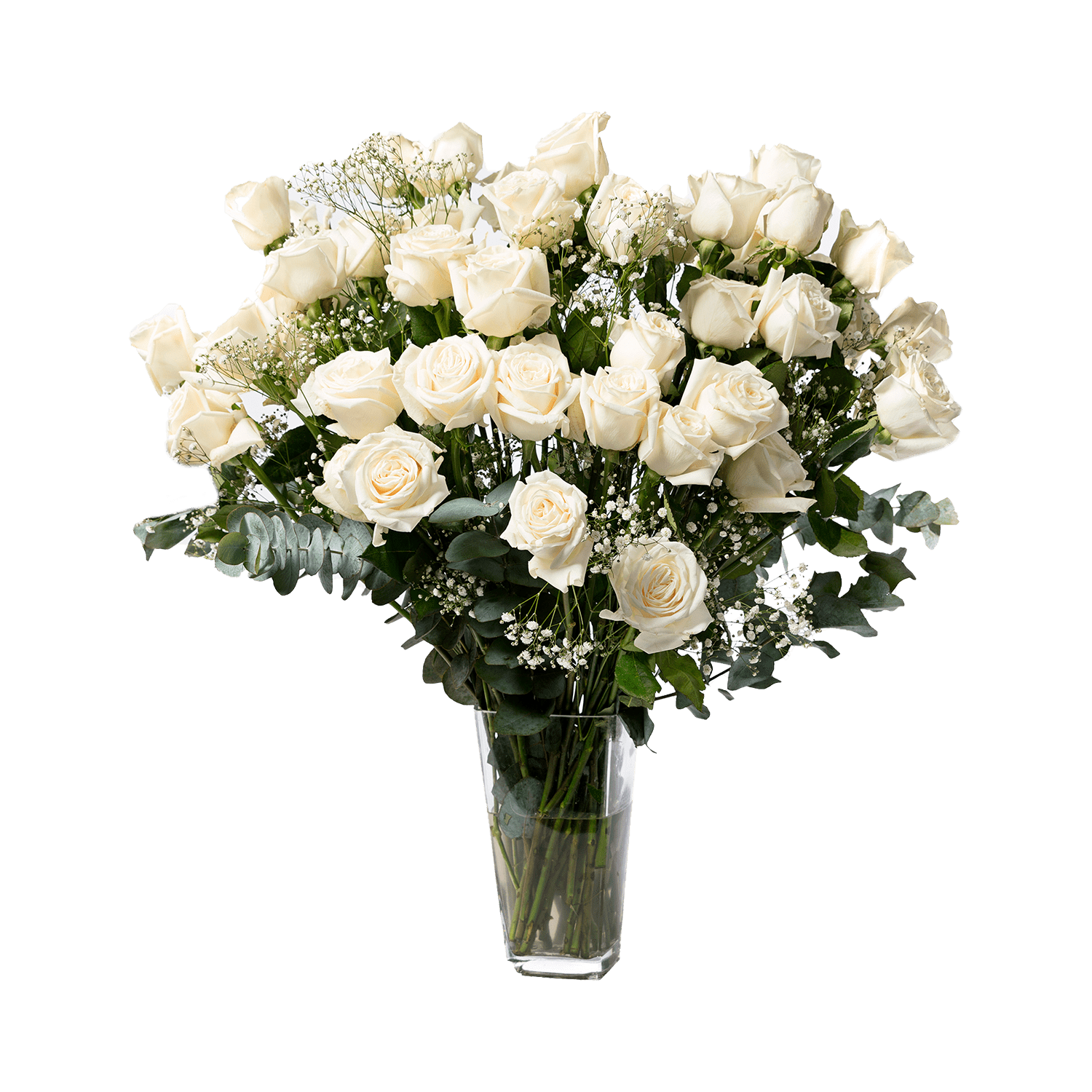 The Cloud 9 bouquet is designed for your busy friend who treats their home like their personal sanctuary; white flowers can help create serene environments.